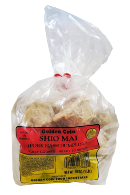 Golden Coin Pork Hash (Shio Mai) 16 oz