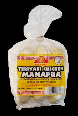 Golden Coin Teriyaki Chicken Manapua 6 ct 26 oz