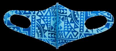 Adults Polyester/Spandex Washable Mask -  Juice Box Blue