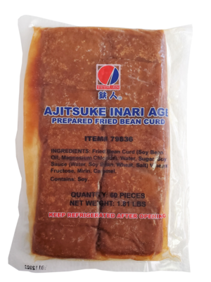 Ajitsuke Inari Seasoned Fried Bean Curd 60 ct