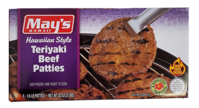 May's Teriyaki Beef Patties 2 lb