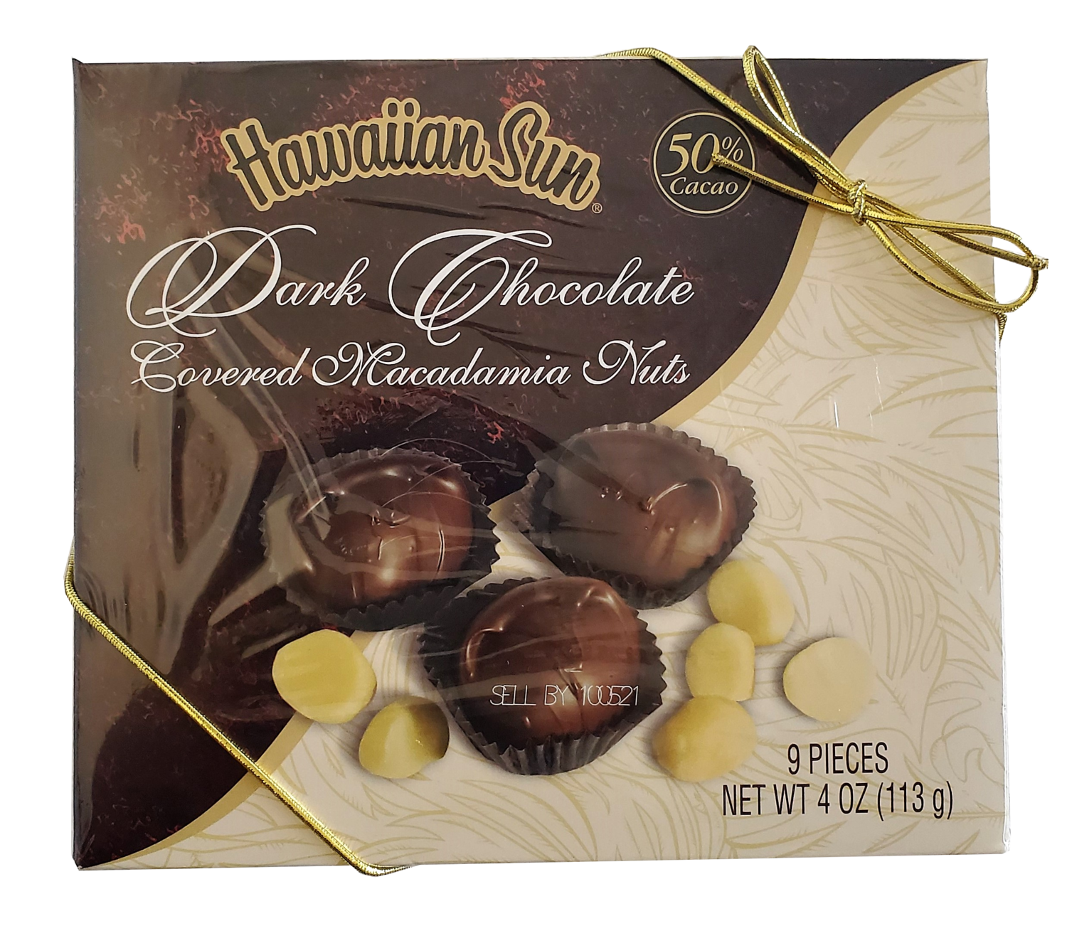 Hawaiian Sun Dark Chocolate Covered Macadamia Nuts 50% Cacao   4oz.