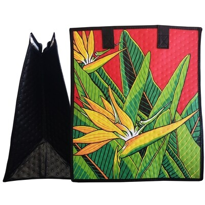 Tropical Paper Garden - Insulated Large Bag - TRUEST RED