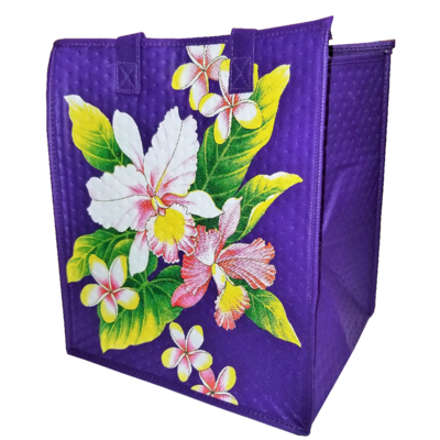 Tropical Paper Garden - Insulated Large Bag - WASHY ORCHID PURPLE