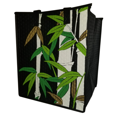 Tropical Paper Garden - Insulated Large Bag - SHADOW BAMBOO BLACK/CREAM