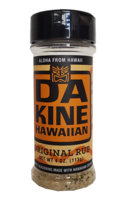 Da Kine Hawaiian Da Rub Original Gourmet Seasoning 4 oz