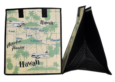 Tropical Paper Garden - Insulated Large Bag - MAPS CREAM