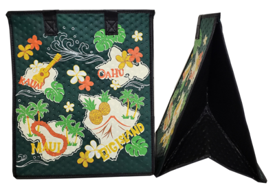 Tropical Paper Garden - Insulated Large Bag - NEIGHBOR ISLAND FOREST