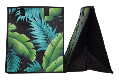 Tropical Paper Garden - Insulated Large Bag - RUSTIC BLACK