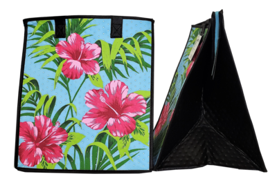 Tropical Paper Garden - Insulated Large Bag - BAHAMAS SKY