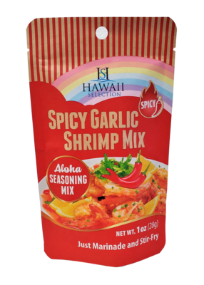 Hawaii Selection Spicy Garlic Shrimp Mix Packet 1oz