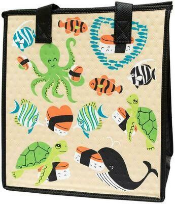 Tropical Paper Garden - Insulated Medium Bag - BEYOND THE SEA CREAM
