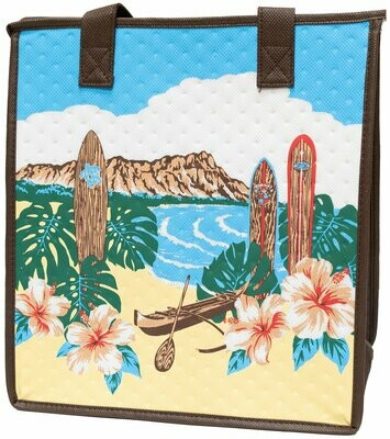 Tropical Paper Garden - Insulated Medium Bag - 50TH STATE WHITE