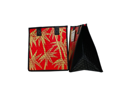 Tropical Paper Garden - Insulated Small Bag - BALI RED/GOLD