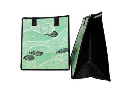 Tropical Paper Garden - Insulated Medium Bag -  FISHNET SAGE