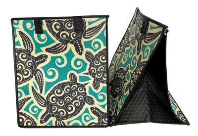 Tropical Paper Garden - Insulated Large Bag - CLOSURE TEAL
