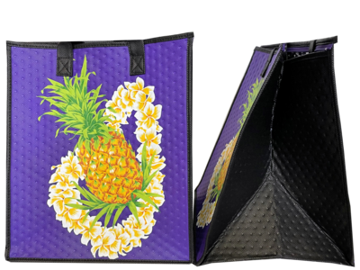 Tropical Paper Garden - Insulated Large Bag - GRACIOUS PURPLE