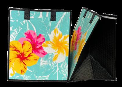 Tropical Paper Garden - Insulated Large Bag - HARVEST AQUA