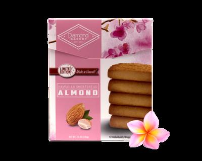 Diamond Bakery Hawaiian Shortbread Cookies - Almond 4.4 oz.