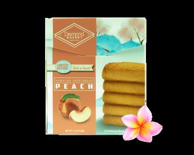Diamond Bakery Hawaiian Shortbread Cookies - Peach  4.4 oz.