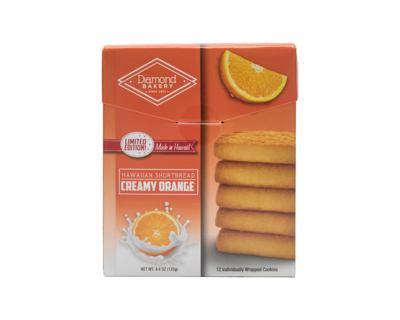 Diamond Bakery Hawaiian Shortbread Cookies - Creamy Orange 4.4 oz.