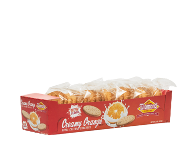 Diamond Bakery Royal Creem Cracker Original Small - Creamy Orange 8 oz