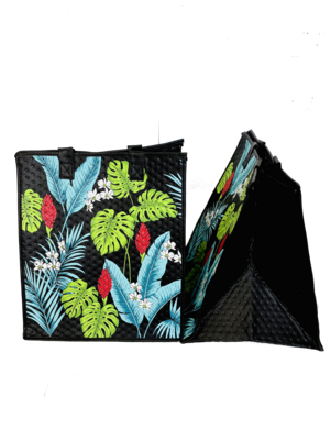 Tropical Paper Garden - Insulated Large Bag - WILLOW BLACK