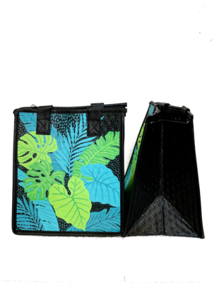 Tropical Paper Garden - Insulated Small Bag - CATWALK BLACK