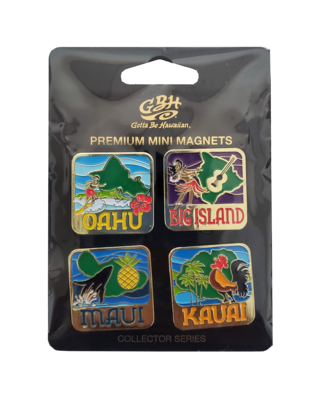 Mini Magnet Set - HI Islands (4 Piece)
