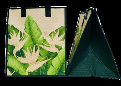 Tropical Paper Garden - Insulated Large Bag - COASTAL CREAM