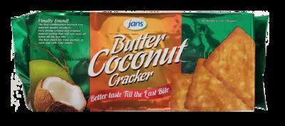 JANS Butter Coconut Cracker 6.7oz