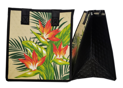 Tropical Paper Garden - Insulated Small Bag - DOWNTOWN CREAM