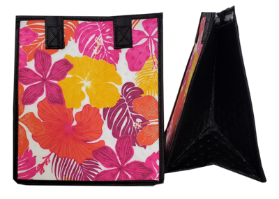 Tropical Paper Garden - Insulated Small Bag - LAGUNA PINK