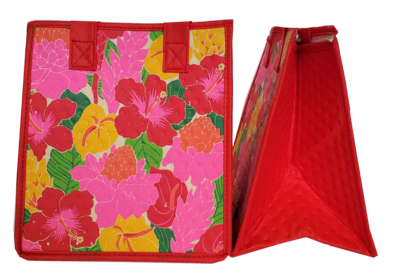 Tropical Paper Garden - Insulated Small Bag - HYGGE RED