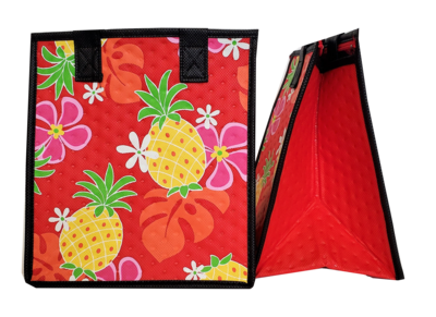Tropical Paper Garden - Insulated Small Bag - WARD RED