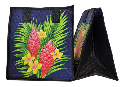 Tropical Paper Garden - Insulated Small Bag - IT TAKES TWO NAVY