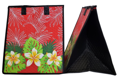 Tropical Paper Garden - Insulated Large Bag - KEILANI RED
