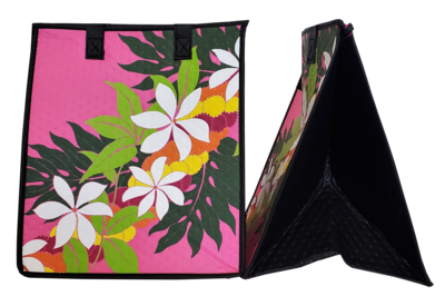 Tropical Paper Garden - Insulated Large Bag - POM POM LEI PINK
