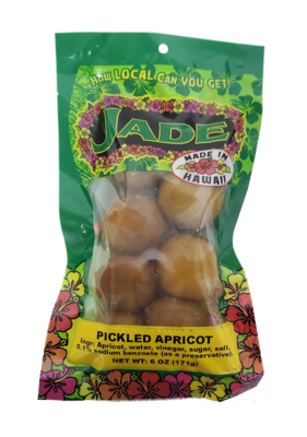 Jade Large Bag Pickled Apricot 6oz (NOT FOR SALE TO CALIFORNIA)