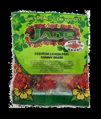 Jade Premium Lemon Peel Gummy Bears 2 oz (NOT FOR SALE TO CALIFORNIA)