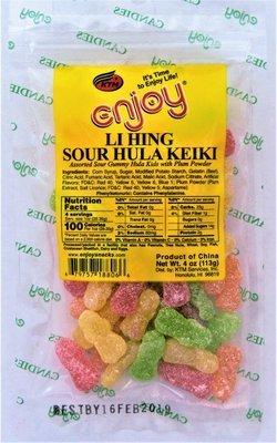 Enjoy Li Hing Hula Keikis 4 oz (NOT FOR SALE TO CALIFORNIA)