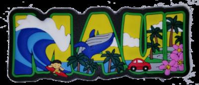 Magnet - Maui Block Rubber