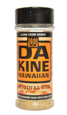 Da Kine Hawaiian Da Rub Original Gourmet Seasoning 4 oz