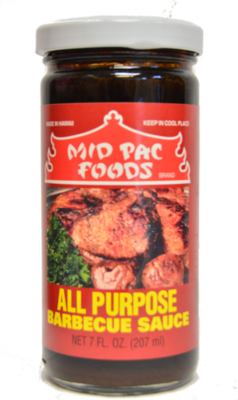Mid Pac All Purpose Barbecue Sauce 7 oz