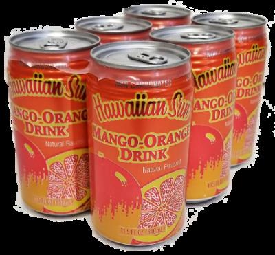Hawaiian Sun Drink - Mango Orange 11.5 oz (Pack of 6)