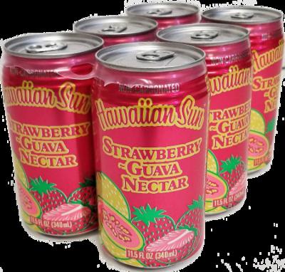 Hawaiian Sun Drink - Strawberry Guava 11.5 oz (Pack of 6)
