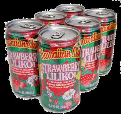 Hawaiian Sun Drink - Strawberry Lilikoi 11.5 oz (Pack of 6)