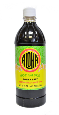 Aloha Soy Sauce Lower Salt 24 oz