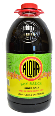 Aloha Soy Sauce Lower Salt 64 oz
