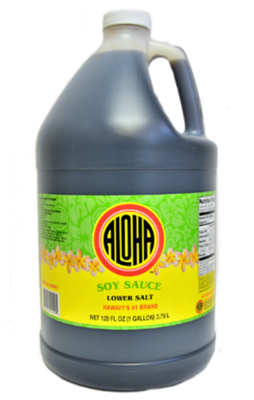 Aloha Soy Sauce Lower Salt Gallon (128 fl oz)